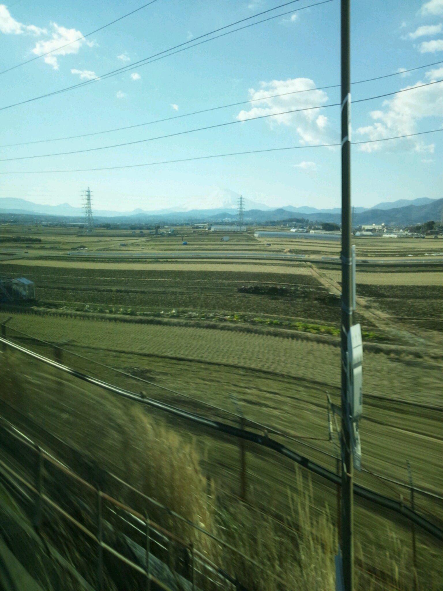 ママの一人旅、新幹線に揺られてます。